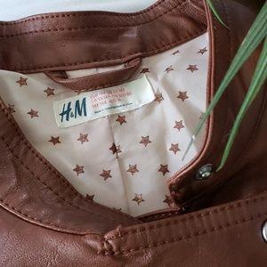 b63c988b3d H M Jackets   Coats - Cute cognac faux leather girl jacket